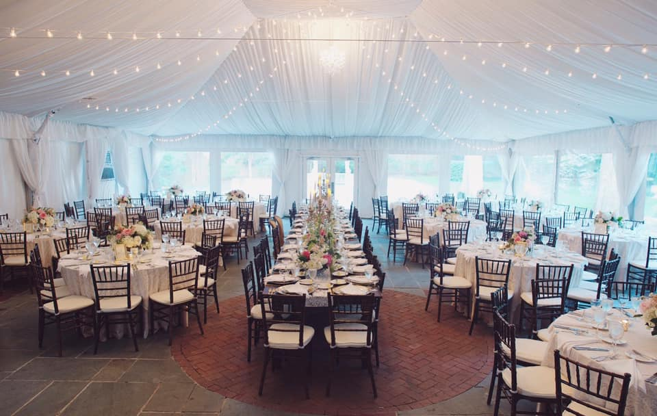 Tented reception.